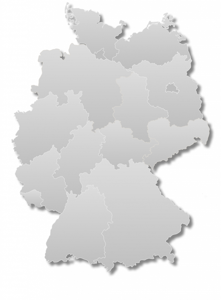 Deutschlandkarte Niederlassungen